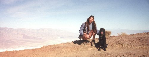 Cat and Ripley at Dante's View in Death Valley