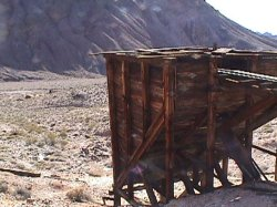 Inyo mine, hopper at the mine site
