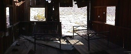 Inside Inyo mine cabin