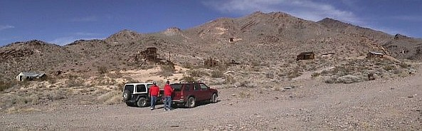 Inyo Mine near Schwab Ghost Town in Death Valley, California.  Notice that Richard is in the picture twice!
