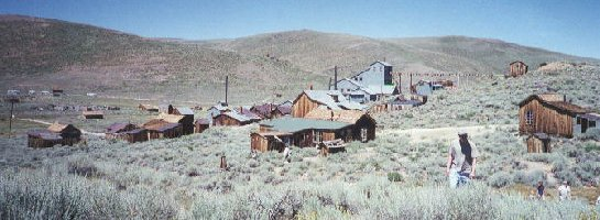 panoramic photo of Bodie townsite